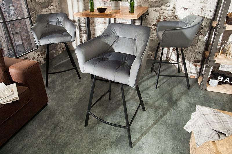 barové stoličky Reaction, dizajnový nábytok, čalúnené stoličky
