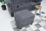 Taburet CHESTERFIELD POUFFE GRAY