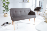 Lavica SCANDINAVIA DARK GRAY