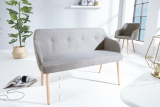 Lavica SCANDINAVIA LIGHT GRAY