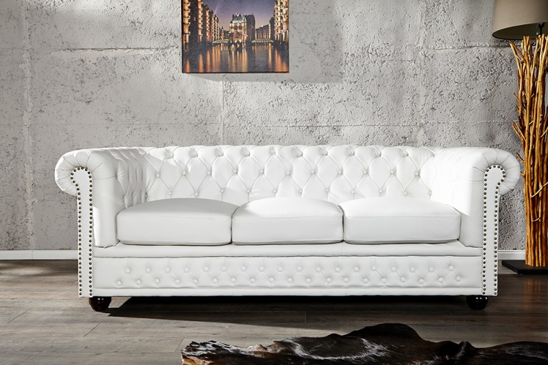 Sedačka CHESTERFIELD 3 WHITE