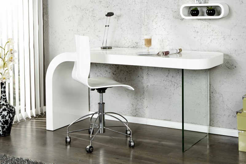 P sac modern stol k onyx biely for Petit bureau design