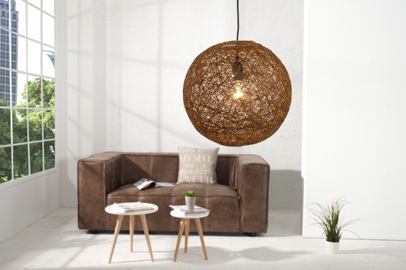 Závesná lampa COCOON NATUR BROWN 45