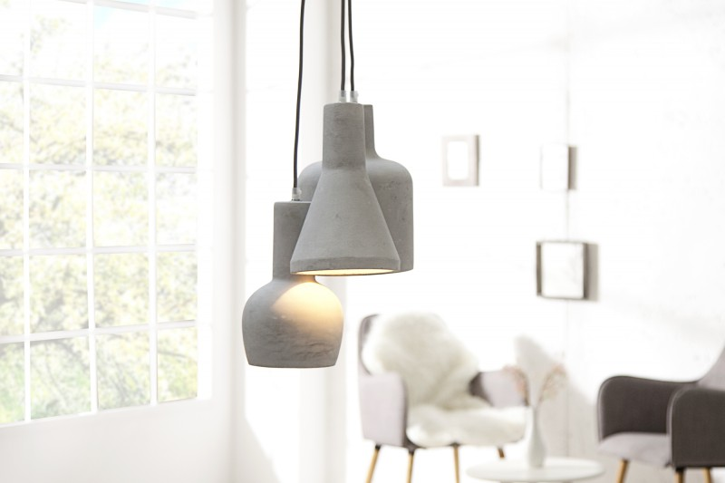 Závesná lampa CEMENT MULTI GREY 3 SET