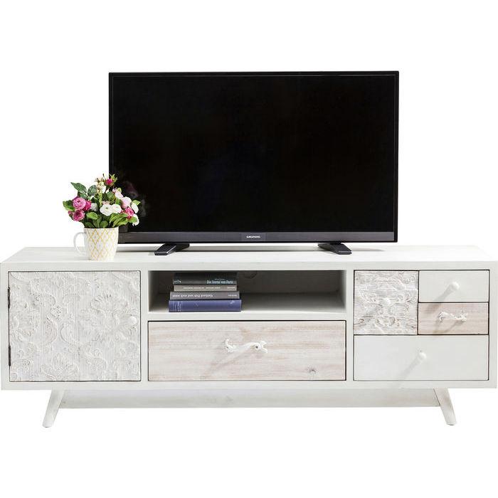 449ad8b7f TV stolík v bielej farbe SWEET HOME