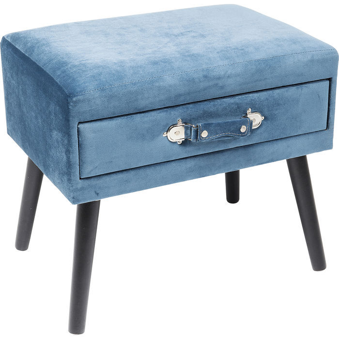 Taburet DRAWER BLUE