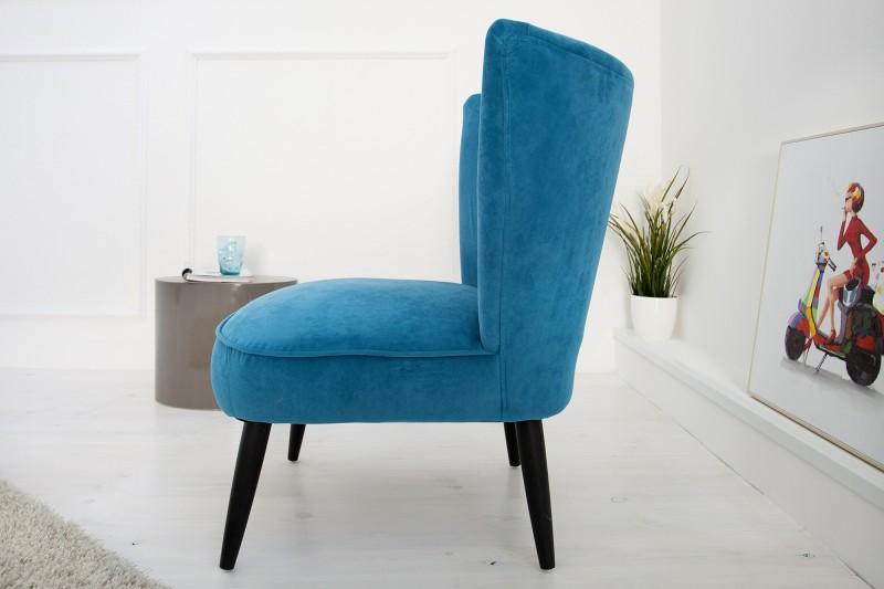 modr kreslo penny retro petrol. Black Bedroom Furniture Sets. Home Design Ideas