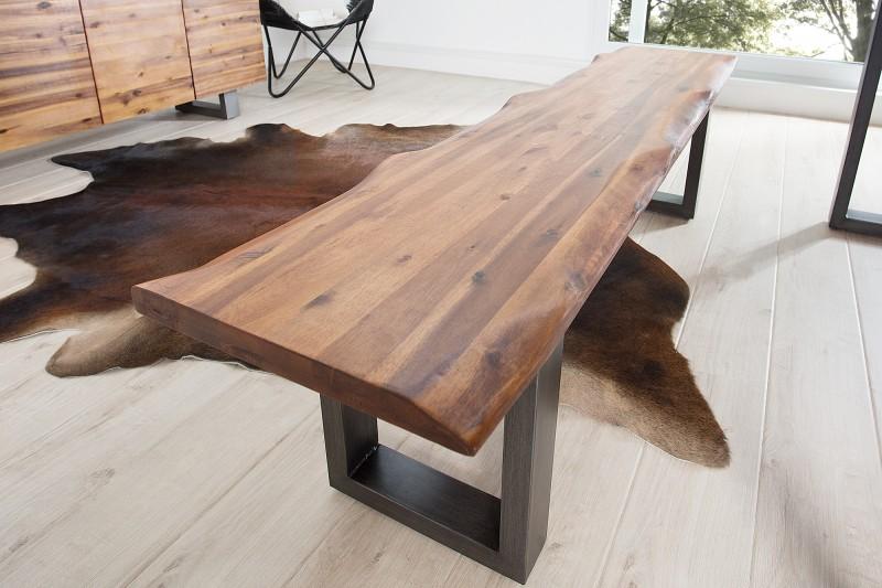 jed lensk lavica z mas vneho ag tov ho dreva genisis antracit. Black Bedroom Furniture Sets. Home Design Ideas