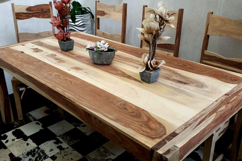 aebb80f690708 Jedálenský stôl z masívu SHEESHAM NATUR 200. Masivny nabytok.