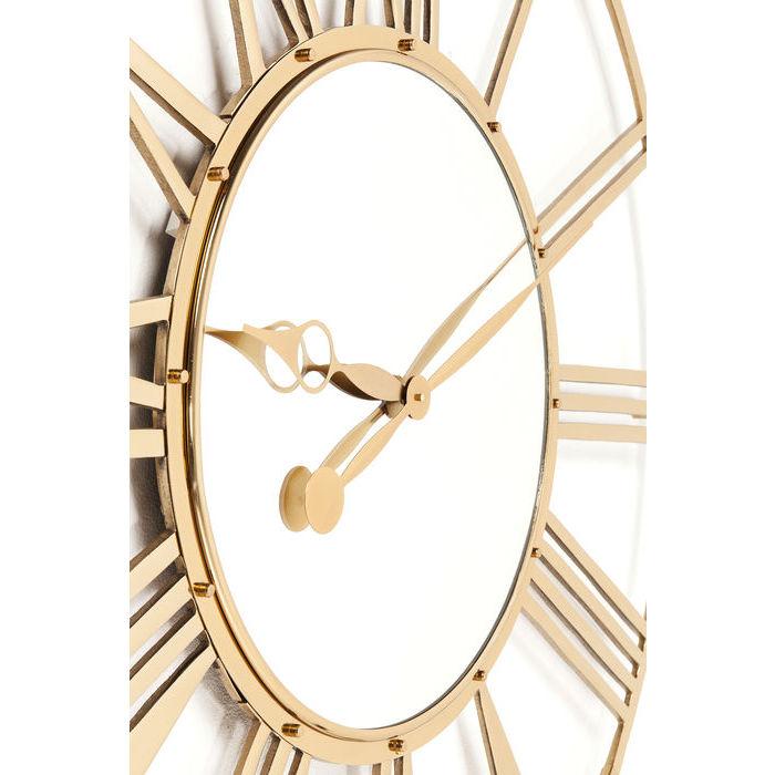 20d7fba2cec0 Dizajnové nástenné hodiny zlaté 120cm.