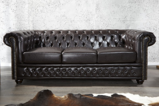 Sedačka CHESTERFIELD 3 BROWN