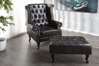 Kreslo CHESTERFIELD OLD BROWN
