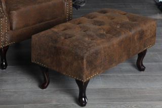 Taburet CHESTERFIELD STOOL VINTAGE