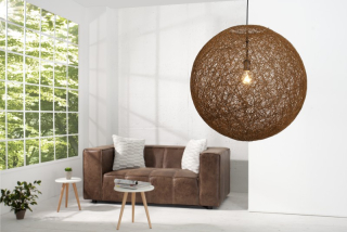 Závesná lampa COCOON NATUR BROWN 60
