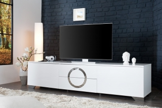 TV stolík ZET CIRCLE WHITE