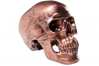 Pokladnička SKULL COPPER ANTIQUE