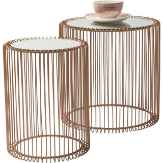 Stolíky WIRE COPPER 2 SET I