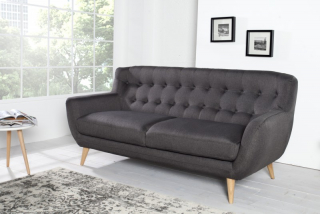 Sedačka 3 SOFA RETRO ANTRACIT