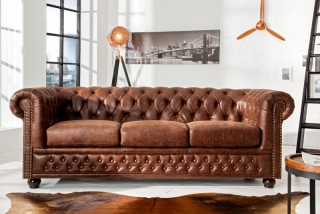 Sedačka CHESTERFIELD 3 VINTAGE LEATHER