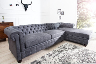 Sedačka CHESTERFIELD CORNER GREY