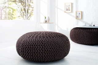 Taburet LEEDS POUF BROWN