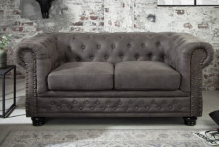 Sedačka CHESTERFIELD 2 ANTIK GRAY