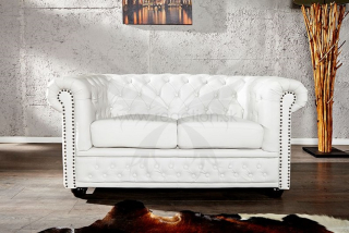 Sedačka CHESTERFIELD 2 WHITE