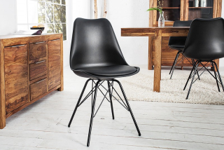 Stolička SCENER CHAIR RETRO BLACK