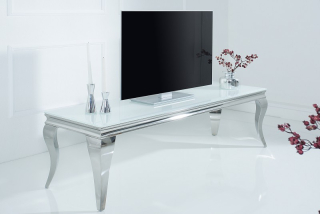 TV stolík BAROCK MODEL WHITE 160